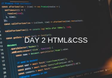 DAY2 HTML&CSS / JavaScript 【ウェブカツ】
