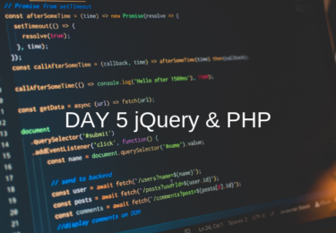 DAY 5 jQuery & PHP 【ウェブカツ】