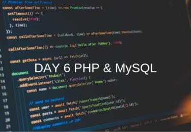 DAY 6 PHP MySQL【ウェブカツ】