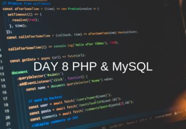 DAY 8 PHP & MySQL 【ウェブカツ】